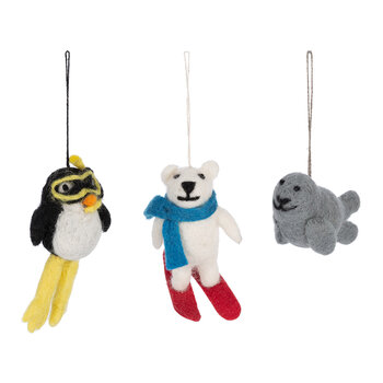 Arctic Friends Tree Decoration - Set of 3