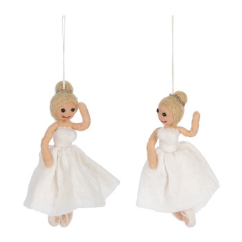 Ballerina Tree Decoration - Set of 2