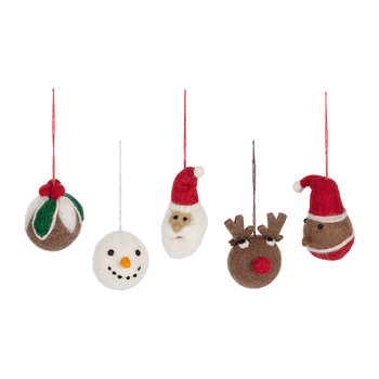 Christmas Character Baubles - Set of 5
