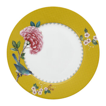 Blushing Birds Plate - Yellow - 21cm