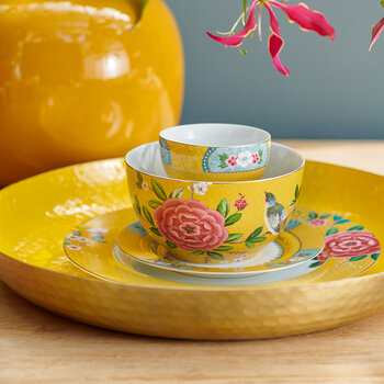 Blushing Birds Bowl - Yellow - 15cm