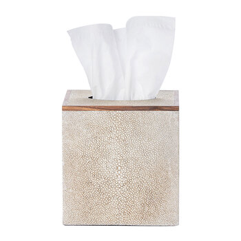 Manchester Tissue Box - Warm Silver