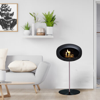 Ground Steel Fireplace - Black