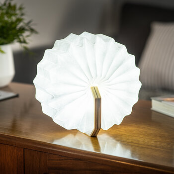 Lampe Intelligente en Accordéon - Noyer