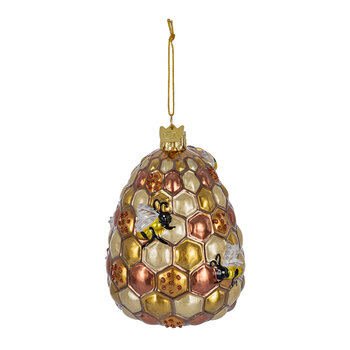 Noble Gems Bees & Beehive Tree Decoration