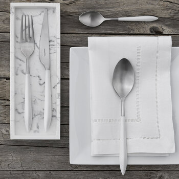 Ares 4 Piece Cutlery Set - White