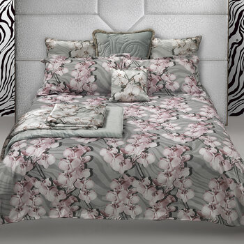 Divine Orchid Bed Set - Gray