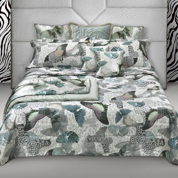 Fading Butterflies Bed Set - Aqua