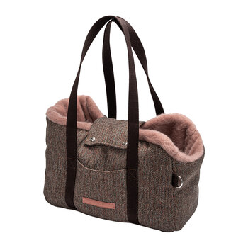 Milano Dog Carrier - Herringbone Brown