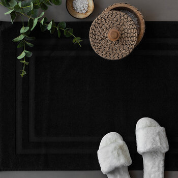 Pima Bath Mat - Black