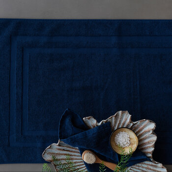 Pima Bath Mat - Navy