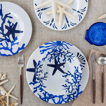 Corallo Plate - Blue - Medium