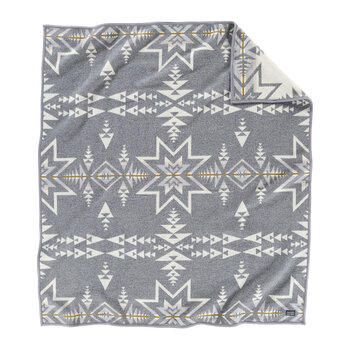 Napped Jacquard Blanket - Plains Star
