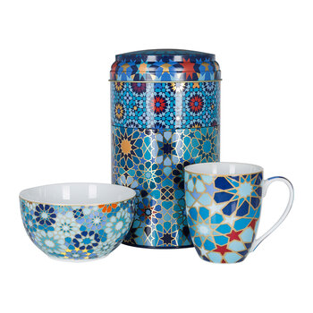 Mug and Bowl Box Set - Moucharabieh Blue