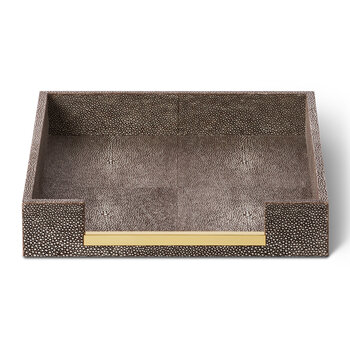 Shagreen Paper Tray - Chocolate