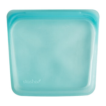 Silicone Reusable Sandwich Bag - Aqua