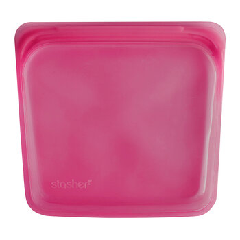 Silicone Reusable Sandwich Bag - Raspberry