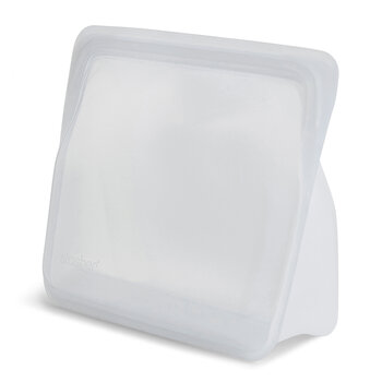Silicone Reusable Stand Up Bag - Clear
