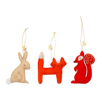 Forest Animals Tree Decoration Set