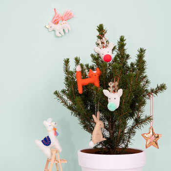 Llama Tree Decorations Set