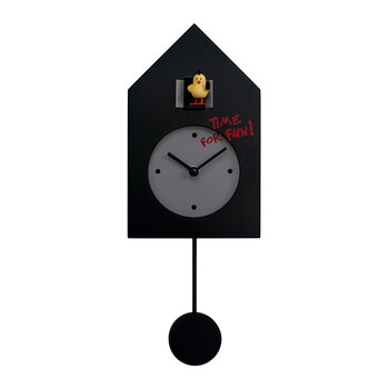 Freebird Punk Wall Clock - Black