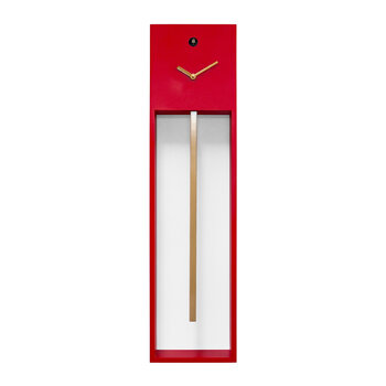 Uaigong Pendulum Cuckoo Clock - Red/Gold