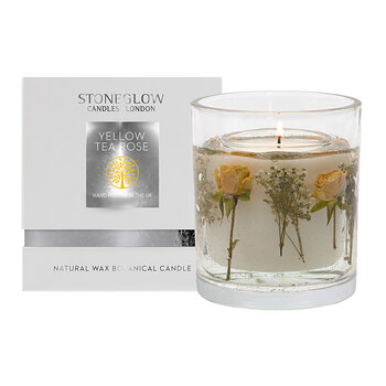 Nature's Gift Gel Candle - Yellow Tea Rose
