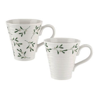 Ceramic Mistletoe Mug - Set of 2