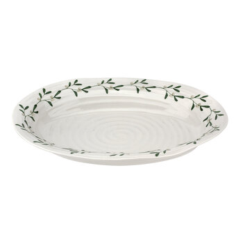 Ceramic Mistletoe Oval Platter