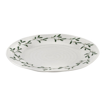 Ceramic Mistletoe Side Plate