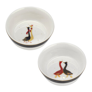 Christmas Geese Bowl - Set of 2