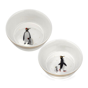 Christmas Penguin Bowls - Set of 2