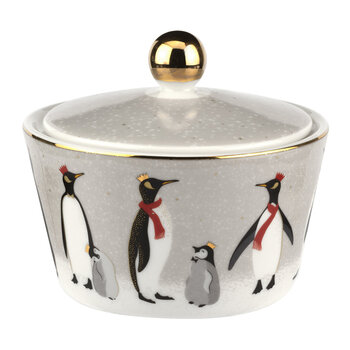 Christmas Penguin Lidded Bowl
