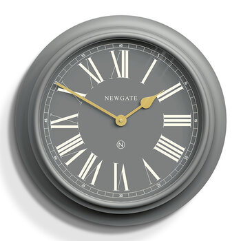 Chocolate Shop Wall Clock - Posh Gray