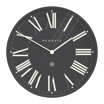 Music Hall Wall Clock - Moonstone Grey Reverse
