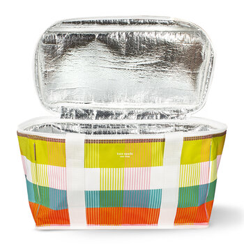 Rainbow Plaid Insulated Cool Bag