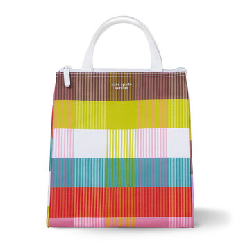 Rainbow Plaid Lunch Bag