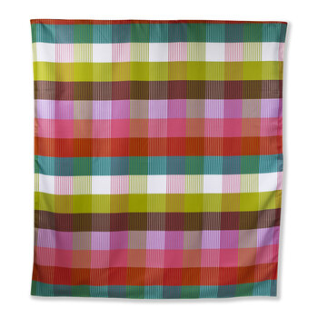 Rainbow Plaid Picnic Blanket