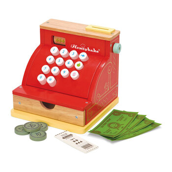 Cash Till Register Wooden Toy