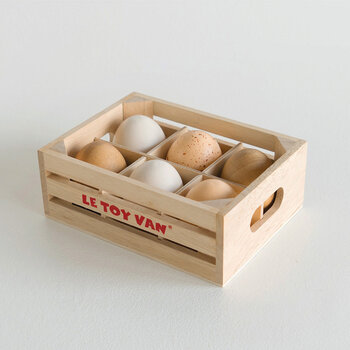 Farm Eggs Wooden Toys - Half Dozen