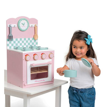 Oven & Hob Wooden Toy - Pink