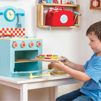 Pizza & Toppings Wooden Toy