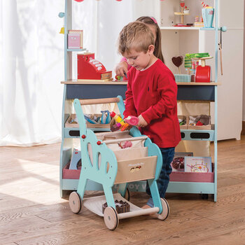 Shopping Trolley Wooden Toy