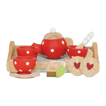 Tea Set & Tray Wooden Toy