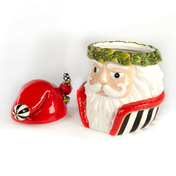 Night Cap Santa Cookie Jar