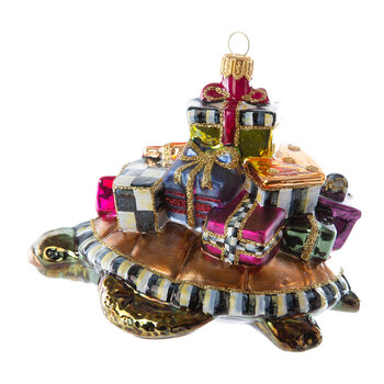 Paradise Turtle Glass Tree Decoration