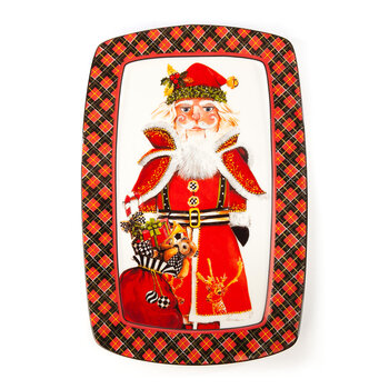 Santa's Nutcracker Cookie Plate