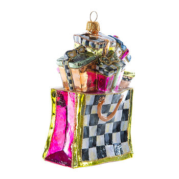 Shopping Bag Glass Tree Decoration