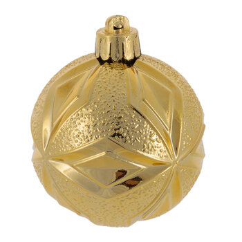 Set of 40 Assorted Baubles - Light Gold