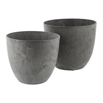 Artstone Bola Pot - Grey